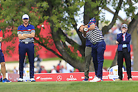Brooks Koepka US Team tees off the 12th tee during Thursday's Practice Day of the 41st RyderCup held at Hazeltine National Golf Club, Chaska, Minnesota, USA. 29th September 2016.<br /> Picture: Eoin Clarke | Golffile<br /> <br /> <br /> All photos usage must carry mandatory copyright credit (&copy; Golffile | Eoin Clarke)