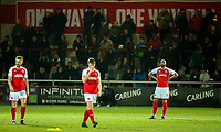 Fleetwood Town players respond after going 1-0 down<br /> <br /> Photographer Alex Dodd/CameraSport<br /> <br /> The EFL Sky Bet League One - Fleetwood Town v Shrewsbury Town - Tuesday 13th February 2018 - Highbury Stadium - Fleetwood<br /> <br /> World Copyright &copy; 2018 CameraSport. All rights reserved. 43 Linden Ave. Countesthorpe. Leicester. England. LE8 5PG - Tel: +44 (0) 116 277 4147 - admin@camerasport.com - www.camerasport.com