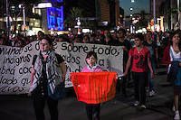 Protest in México City. People demand from the government to explain what happened to the 43rd students that went missing on September 26, 2014  from Raúl Isidro Burgos Rural teachers college of Ayotzinapa in Iguala Guerrero. It was a global march organized all across México and abroad. Its been more than one month since the students disappearance and the government haven't found them. México City, México. Nov. 5, 2014.