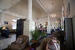 Yakima, North Town Coffeehouse,  Yakima train station, one-time Burlington Northern Santa Fe train depot, Front Street, Eastern Washington, Yakima County, Washington State, Pacific Northwest, United States,