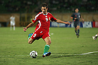 Hungary's Krisztian Nemeth (9) makes a goal attempt against Italy during the FIFA Under 20 World Cup Quarter-final match at the Mubarak Stadium  in Suez, Egypt, on October 09, 2009. Hungary won 2-3 in overtime.
