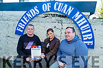 Robbie Maher, Liz O'Brien and Joseph Sweeney at Cuan Mhuire in Strand Road on Friday.