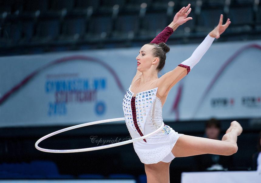 September 7, 2015 - Stuttgart, Germany - ANNA RIZATDINOVA of Ukraine performs during AA qualifications at 2015 World Championships.