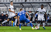 28th September 2017, Partizan Stadium, Belgrade, Serbia; UEFA Europa League group stage, Partizan versus Dynamo Kiev; Midfielder Seydouba Soumah of Partizan in action against Midfielder Vitaliy Buyalskiy of Dynamo Kiev