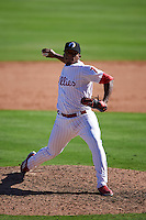 Glendale Desert Dogs pitcher Edubray Ramos (75) delivers a pitch during an Arizona Fall League game against the Surprise Saguaros on October 24, 2015 at Camelback Ranch in Glendale, Arizona.  Surprise defeated Glendale 18-3.  (Mike Janes/Four Seam Images)