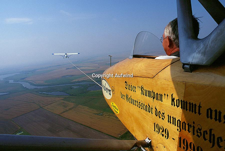 Segelflug, Kumpan, Flugzeug Schlepp, offen fliegen