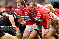 2006, Powergen Cup, Twickenham, Llanelli Hooker Matthew Rees and right  Prop John Davies, London Wasps vs Llanelli Scarlets, ENGLAND, 09.04.2006, 2006, , © Peter Spurrier/Intersport-images.com.   [Mandatory Credit, Peter Spurier/ Intersport Images].