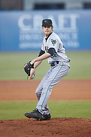 Augusta GreenJackets starting pitcher Jason Bahr (32) in action against the Greensboro Grasshoppers at First National Bank Field on April 10, 2018 in Greensboro, North Carolina.  The GreenJackets defeated the Grasshoppers 5-0.  (Brian Westerholt/Four Seam Images)