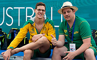 Mitchell Larkin and his coach AUS<br /> training<br /> day 02  09-08-2017<br /> Energy For Swim<br /> Rome  08 -09  August 2017<br /> Stadio del Nuoto - Foro Italico<br /> Photo Deepbluemedia/Insidefoto