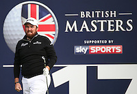 Shane Lowry (IRL) in action during the Final Round of the British Masters 2015 supported by SkySports played on the Marquess Course at Woburn Golf Club, Little Brickhill, Milton Keynes, England.  11/10/2015. Picture: Golffile | David Lloyd<br /> <br /> All photos usage must carry mandatory copyright credit (&copy; Golffile | David Lloyd)