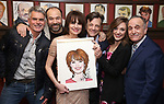 Troy Britton Johnson, Danny Burstein, Beth Leavel, Jim Caruso, Laura Osnes, and Adam Heller during the Beth Leavel Portrait unveiling at Sardi's on 3/26/2019 in New York City.
