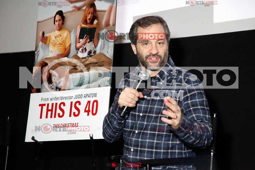 PHILADELPHIA, PA - NOVEMBER 27 :  Judd Apatow writer and director of This Is 40 pictured at a Q&A at the Ritz 5 in Philadlphia, Pa on November 27, 2012  ***EXCLUSIVE***  HOUSE PHOTOGRAPHER  © Star Shooter / MediaPunch Inc /NortePhoto
