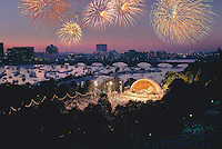 Hatch Shell fireworks, July 4th, Boston, MA