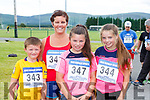 Mark, Siobhain, Aoife and Niamh Cremin running in the 4km road race in aid of the Rathmore Ladies football club on Sunday
