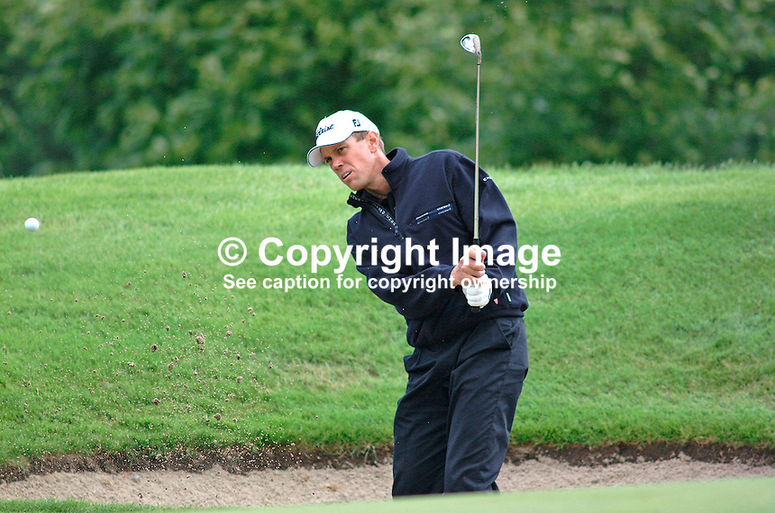 Roger Wessels, professional golfer, South Africa. Picture taken during practice for the Smurfit European Golf Champsionship at the K Club, Co Kildare, Rep of Ireland. Ref: 200207025681.e <br />