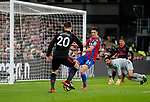 Arsenal's Shkodran Mustafi scoring his sides opening goal during the premier league match at Selhurst Park Stadium, London. Picture date 28th December 2017. Picture credit should read: David Klein/Sportimage