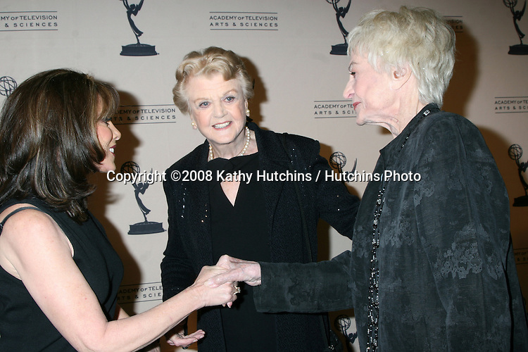 Kate Linder, Angela Lansbury, & Bea Arthur arriving at the Television Academy Hall of Fame Ceremony in Beverly Hills, CA .December 9, 2008.©2008 Kathy Hutchins / Hutchins Photo....                .