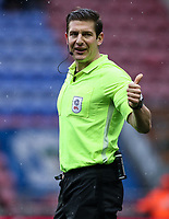 Referee Robert Jones<br /> <br /> Photographer Andrew Kearns/CameraSport<br /> <br /> The EFL Sky Bet Championship - Wigan Athletic v Bolton Wanderers - Saturday 16th March 2019 - DW Stadium - Wigan<br /> <br /> World Copyright &copy; 2019 CameraSport. All rights reserved. 43 Linden Ave. Countesthorpe. Leicester. England. LE8 5PG - Tel: +44 (0) 116 277 4147 - admin@camerasport.com - www.camerasport.com