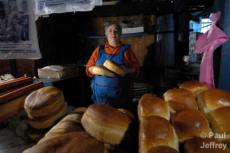 In the market in Akhaltsikhe, Georgia, a woman sells bread with help from a small loan program run by the United Methodist Committee on Relief.