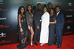 """Cast members (left to right) Ajiona Alexus, Crystle Stewart, Lyriq Bent, Taraji P. Henson, director Tyler Perry Ptosha Storey, and Antonio Madison arrive on the red-carpet for Tyler Perry""""s ACRIMONY movie premiere at the School of Visual Arts Theatre in New York City, on March 27, 2018."""