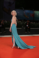 "VENICE, ITALY - SEPTEMBER 05: Andrea Riseborough walks the red carpet of the ""ZeroZeroZero"" screening during the 76th Venice Film Festival at Sala Grande on September 05, 2019 in Venice, Italy. (Photo by Mark Cape/Insidefoto)<br /> Venezia 05/09/2019"
