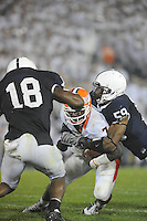 27 September 2008:  Penn State DE Aaron Maybin (59) tackles Illinois QB Juice Williams (7)  The Penn State Nittany Lions defeated the Illinois Fighting Illini 38-24 September 27, 2008 at Beaver Stadium in State College, PA..