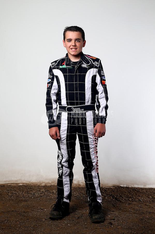 Mar. 21, 2014; Chandler, AZ, USA; LOORRS modified kart driver Trevor Briska poses for a portrait prior to round one at Wild Horse Motorsports Park. Mandatory Credit: Mark J. Rebilas-USA TODAY Sports