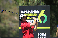 Ryan Evans (ENG) in action on the 11th during Round 3 of the ISPS Handa World Super 6 Perth at Lake Karrinyup Country Club on the Saturday 10th February 2018.<br /> Picture:  Thos Caffrey / www.golffile.ie<br /> <br /> All photo usage must carry mandatory copyright credit (&copy; Golffile | Thos Caffrey)