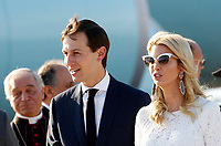 Ivanka Trump, right, daughter of U.S. President Donald Trump, and her husband Jared Kushner, disembark from Air Force One at Rome's Fiumicino international airport, May 23, 2017. Donald Trump will meet Pope Francis, at the Vatican, and Italian President Sergio Mattarella, on May 24.<br /> UPDATE IMAGES PRESS/Riccardo De Luca
