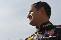 Feb 11, 2007; Daytona, FL, USA; Nascar Nextel Cup driver Juan Pablo Montoya (42) during qualifying for the Daytona 500 at Daytona International Speedway. Mandatory Credit: Mark J. Rebilas