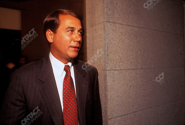 John Boehner (R-Ohio), former Chairman of the Republican Conference, currently Speaker of the House of Representatives. Washington, D.C., January 1997...1997 © David BURNETT (CONTACT PRESS IMAGES)