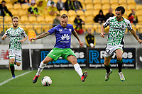 David Ball of Wellington Phoenix during the A League - Wellington Phoenix v Western United FC at Sky Stadium, Wellington, New Zealand on Friday 21 February 2020. <br /> Photo by Masanori Udagawa. <br /> www.photowellington.photoshelter.com