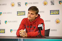 Rotterdam, The Netherlands, Februari 9, 2016,  ABNAMROWTT, David Goffin (BEL)<br /> Photo: Tennisimages/Henk Koster