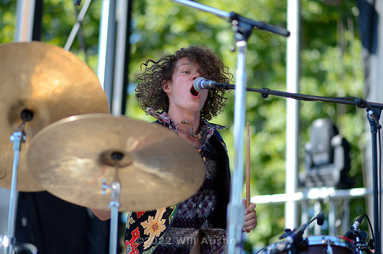 The band Kithkin performs at Bumbershoot 2013 in Seattle, WA USA