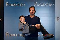Federico Ielapi as Pinocchio and film director Matteo Garrone<br /> Rome December 12th 2019. Pinocchio Photocall in Rome<br /> Foto Samantha Zucchi Insidefoto