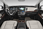 Stock photo of straight dashboard view of 2017 Toyota Sienna Limited 5 Door Minivan Dashboard