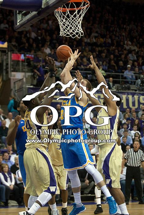 Feb 2, 2012:  UCLA's #24 Travis Wear against Washington.  Washington defeated UCLA 71-69 at Alaska Airlines Arena Seattle, Washington...