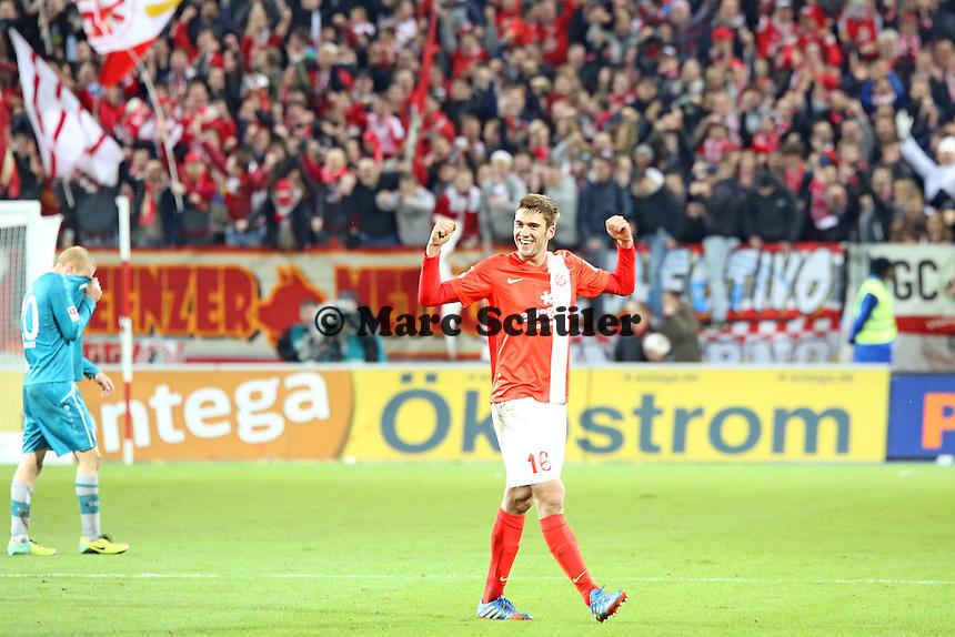 Siegesjubel Mainz von Stefan Bell - 1. FSV Mainz 05 vs. Eintracht Frankfurt, Coface Arena, 12. Spieltag