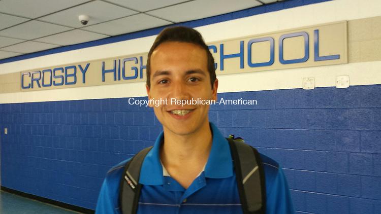 Crosby High School Valedictorian Joel Pimento Alves, 19, Waterbury