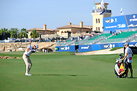 Rafa Cabrera Bello (ESP) on the 18th fairway during the 1st round of the DP World Tour Championship, Jumeirah Golf Estates, Dubai, United Arab Emirates. 15/11/2018<br /> Picture: Golffile | Fran Caffrey<br /> <br /> <br /> All photo usage must carry mandatory copyright credit (&copy; Golffile | Fran Caffrey)