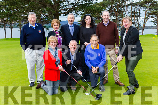 Launching the Home from Home Golf Classic whivj will be held on Friday May 26th in the Killarney Golf club on Monday were front row l-r: Claire Bowler, Michale Leahy, Teddy Bowler, Noreen Buckley Chairperson. Bck row: Dick Willis, Angela Brosnan, Frank McGonigle, Clara Brosnan and Liam Twomey