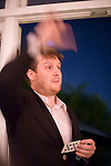 Ms Marmite Lover Underground Restaurant..Comedy themed night with comedians such as Josie Long and Chris Neill..pic shows: Tim Key performing his comedy poetry....Picture by Gavin Rodgers/ Pixel 07917221968