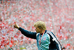 Fussball 1.BL 2007/2008: Oliver KAHN in seinem letzten Spiel, FC Bayern Muenchen Deutscher Meister