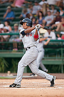 Angel Morales of the Ft. Myers Miracle during the game against the Daytona Cubs July 15 2010 at Jackie Robinson Ballpark in Daytona Beach, Florida. Photo By Scott Jontes/Four Seam Images
