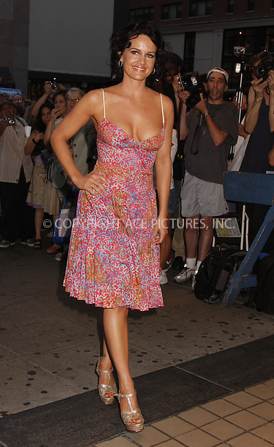 WWW.ACEPIXS.COM . . . . .....August 6, 2008. New York City.....Actress Carla Gugino arriving at the 'Vicky Cristina Barcelona' Premiere at Cinema 2 on August 6, 2008 in New York City...  ....Please byline: AJ SOKALNER - ACEPIXS.COM.... *** ***..Ace Pictures, Inc:  ..Philip Vaughan (646) 769 0430..e-mail: info@acepixs.com..web: http://www.acepixs.com