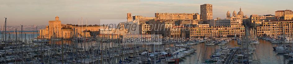 Europe/France/Provence-Alpes-Côte d'Azur/13/Bouches-du-Rhône/Marseille: Le Vieux Port, le Fort Saint-Jean et la Major