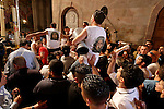 Israel, Jerusalem Old City, Holy Saturday at the Church of the Holy Sepulchre. Easter 2005<br />