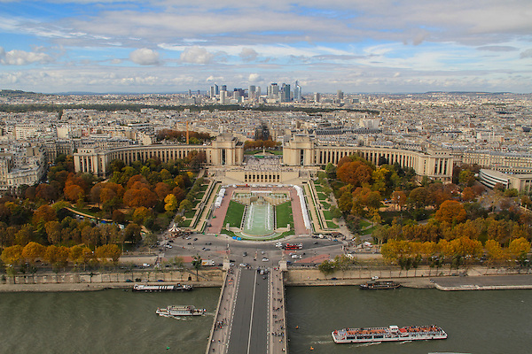 Seine River from the Eiffel Tower, Paris, France, .  John offers private photo tours in Denver, Boulder and throughout Colorado, USA.  Year-round. .  John offers private photo tours in Denver, Boulder and throughout Colorado. Year-round.