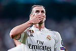 Gareth Bale of Real Madrid celebrates after scoring his goal during the UEFA Champions League 2018-19 match between Real Madrid and Roma at Estadio Santiago Bernabeu on September 19 2018 in Madrid, Spain. Photo by Diego Souto / Power Sport Images