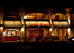 Night scene along Rehoboth Avenue.  Rehoboth Beach, Delaware, USA.  © Rick Collier